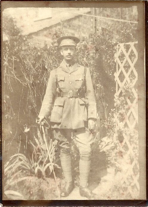 [Brooks Ernest 7 Whitehouse Road in WWI uniform Clive Organ]