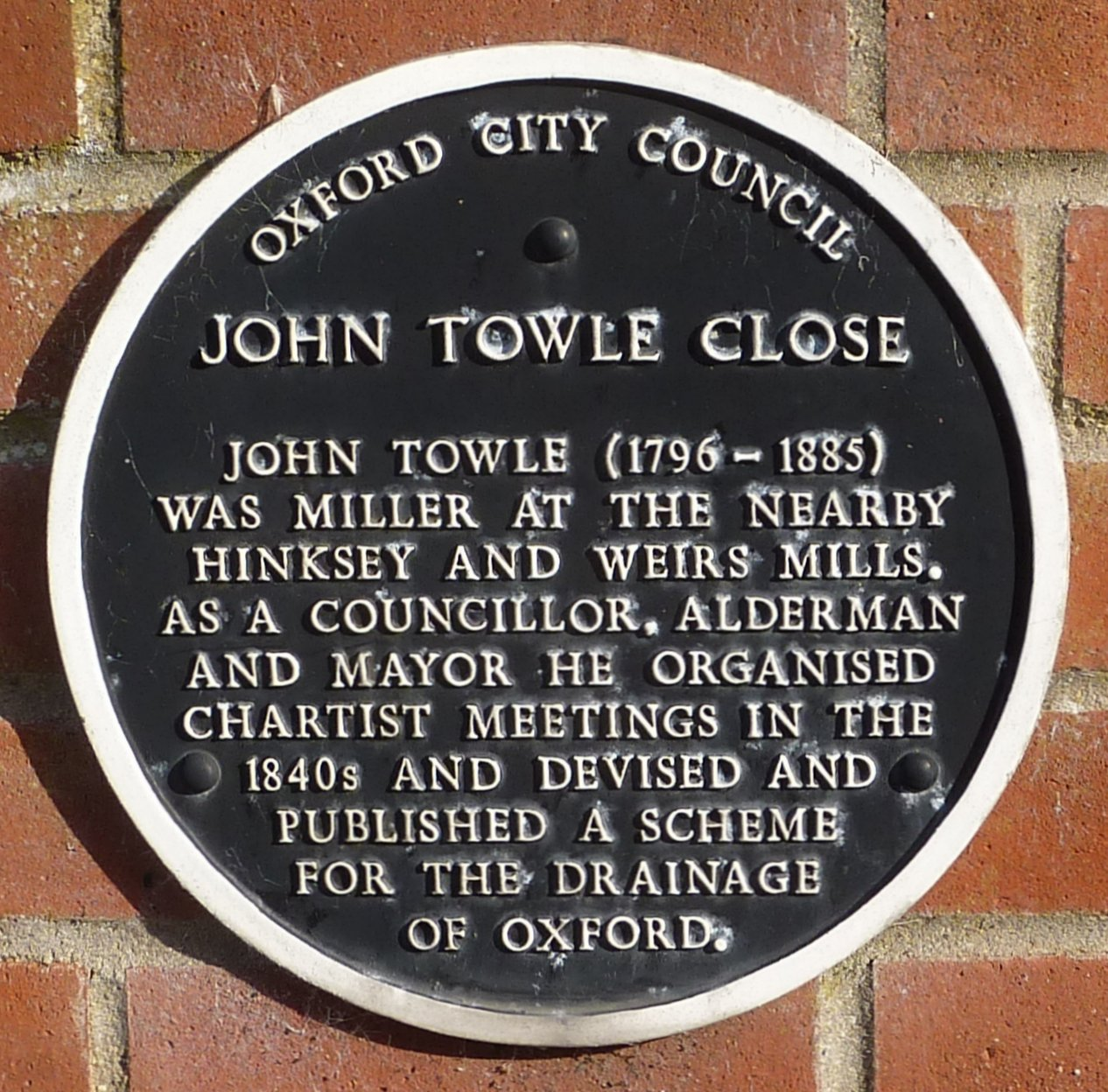 John Towle Close off Wytham Street