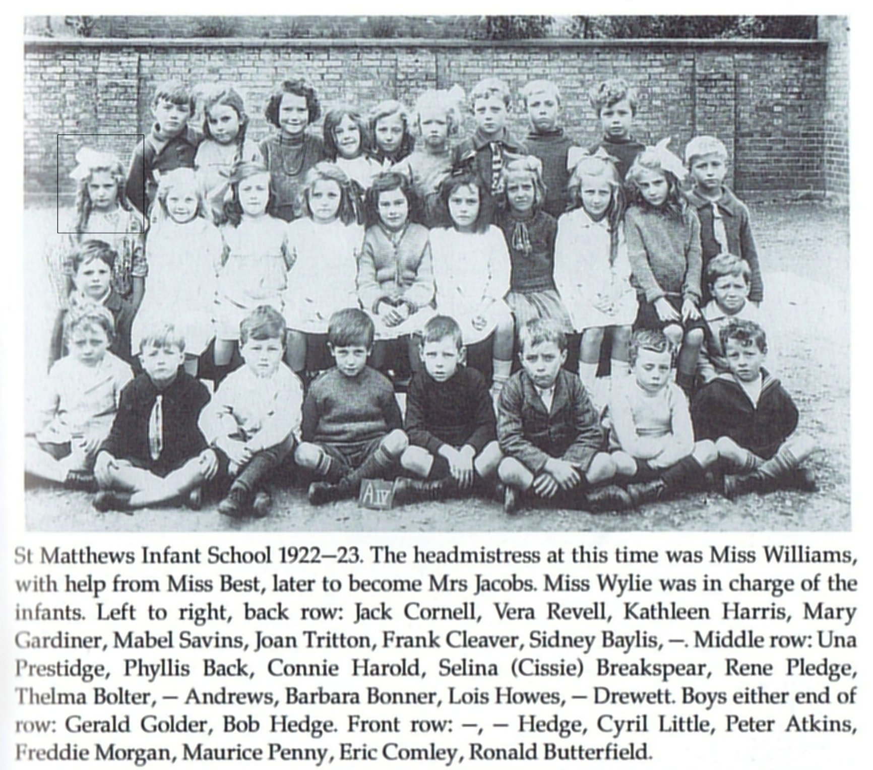 [Una Prestidge, St Matthews Infants, 1922-23]